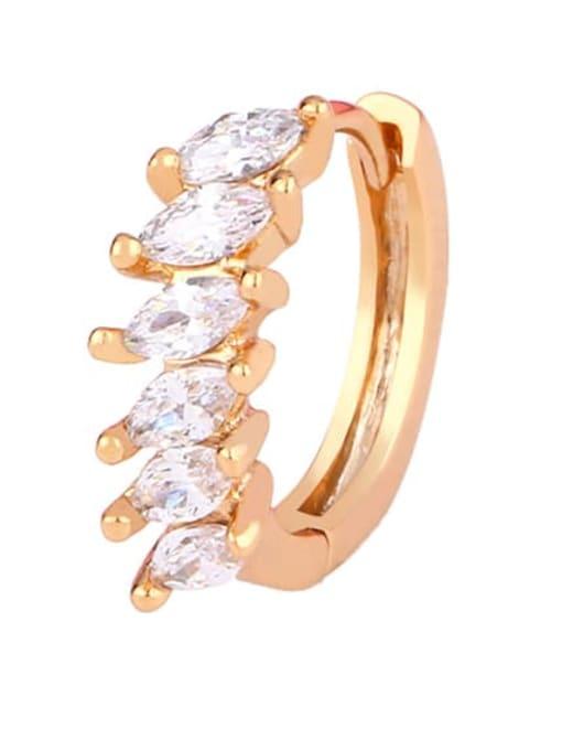 Section a Brass Cubic Zirconia Geometric Bohemia Stud Earring