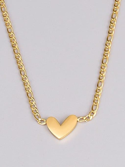 A TEEM Titanium Steel Shell Heart Minimalist Necklace 2
