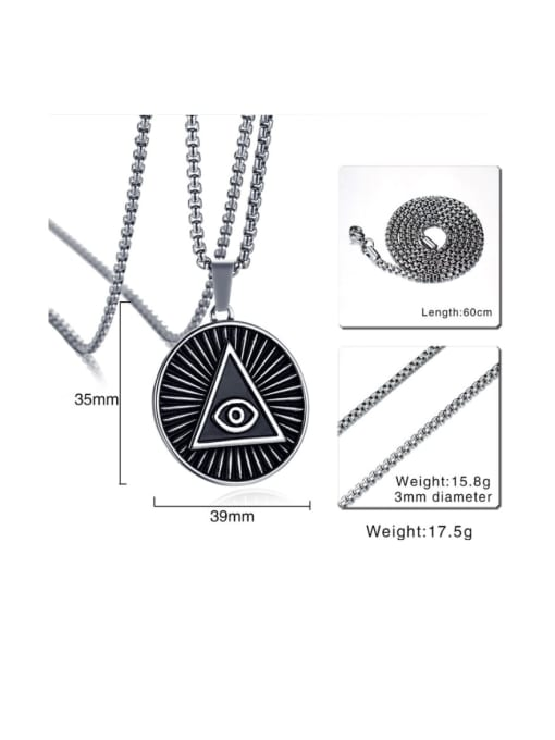 CONG Stainless steel Geometric Vintage Necklace 1