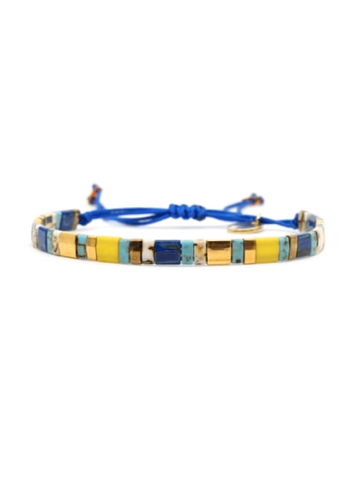 TL B190262A Stainless steel TILA Bead Multi Color Geometric Bohemia Handmade Weave Bracelet