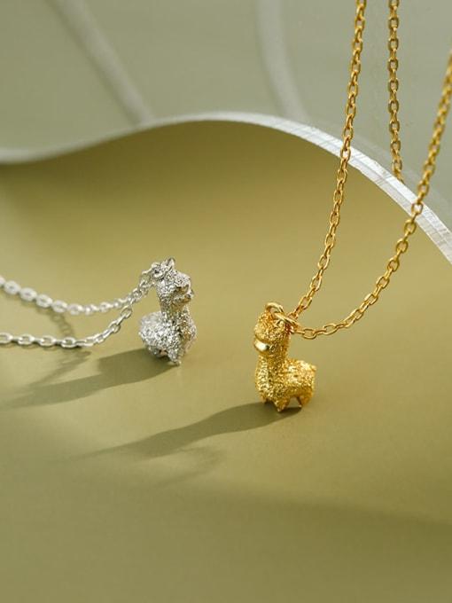 Dak Phoenix 925 Sterling Silver Simple mini alpaca Vintage Necklace 1