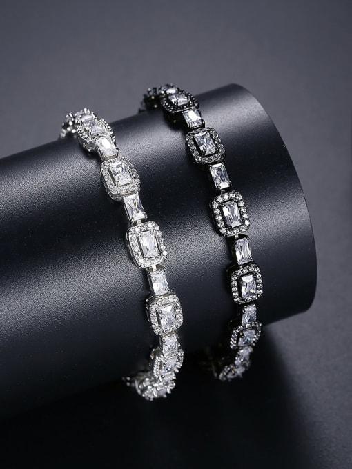 BLING SU Copper Cubic Zirconia Geometric Luxury Bracelet 2