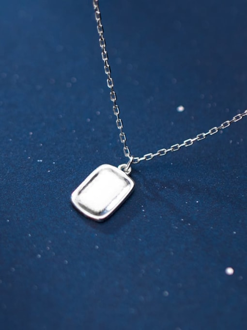 Rosh 925 Sterling Silver Geometric Minimalist Necklace