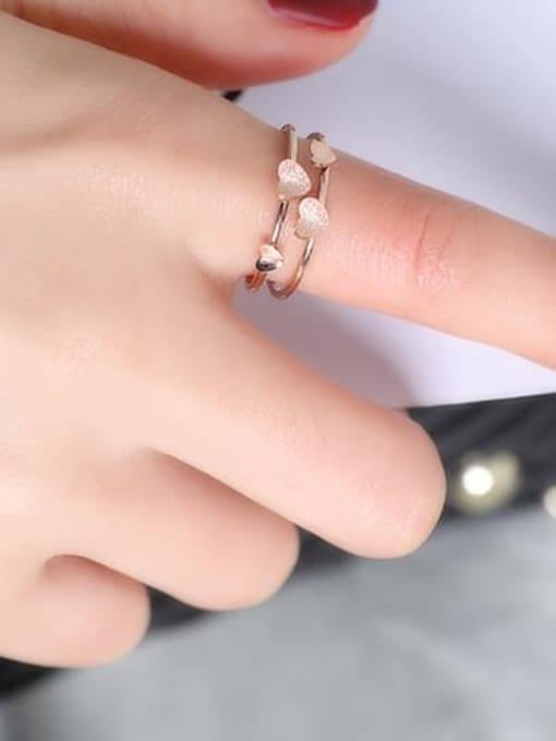 MIYA Titanium Steel Heart Minimalist Stackable Ring 1