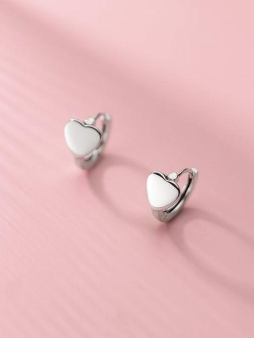 Rosh 925 Sterling Silver Heart Minimalist Stud Earring 1
