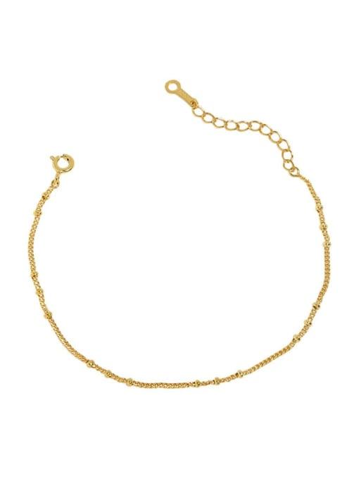 18K Gold 925 Sterling Silver Irregular Minimalist Link Bracelet