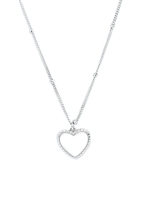 XBOX 925 Sterling Silver Smooth Heart Vintage Pendant Necklace 3