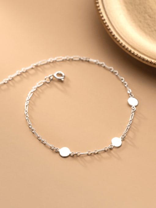 Rosh 925 Sterling Silver Round Minimalist Adjustable Bracelet 2