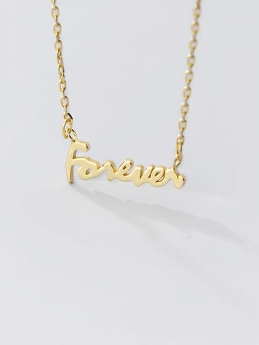 Rosh 925 Sterling Silver Letter Minimalist pendant Necklace 2