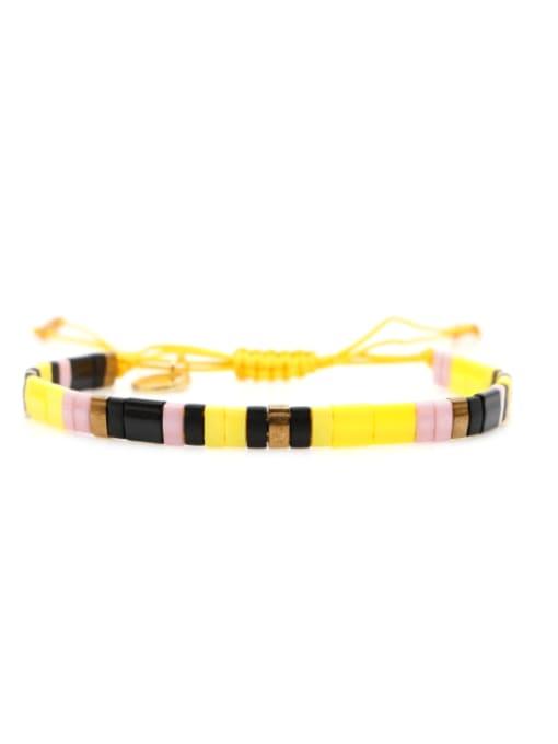 Roxi Stainless steel TILA Bead Multi Color Geometric Bohemia Handmade Weave Bracelet 2
