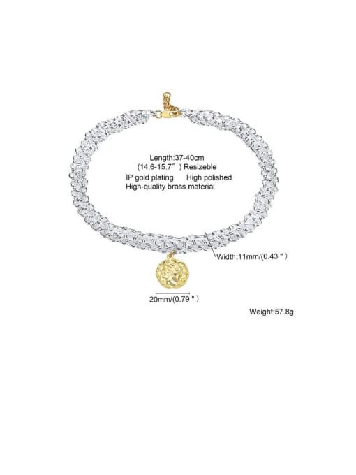 CONG Brass Geometric Vintage Multi Strand Necklace 1