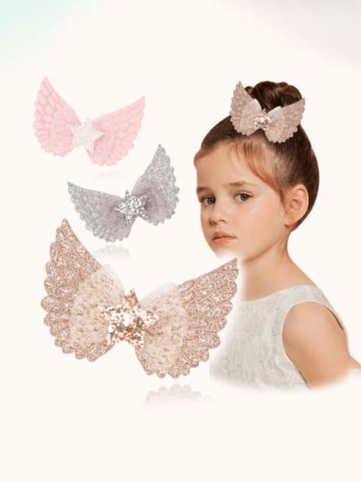 YOKI KIDS Alloy  Silk Cute Butterfly Multi Color Hair Barrette 2