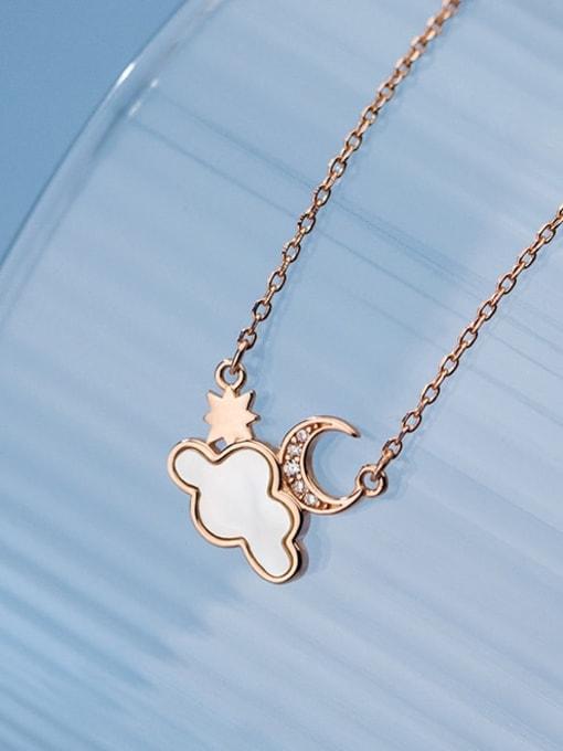 Rosh 925 Sterling Silver Enamel Cloud Minimalist Necklace 2