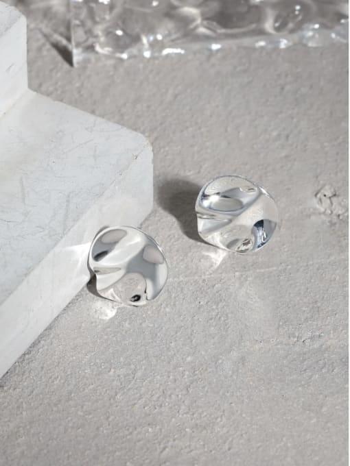 DAKA 925 Sterling Silver Geometric Minimalist Stud Earring 1