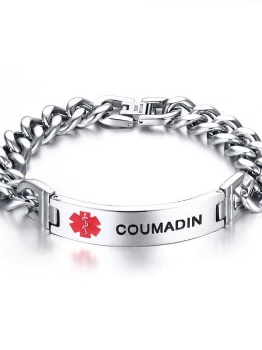 Br 393 5 corrosion Titanium Steel Geometric Minimalist Link Bracelet