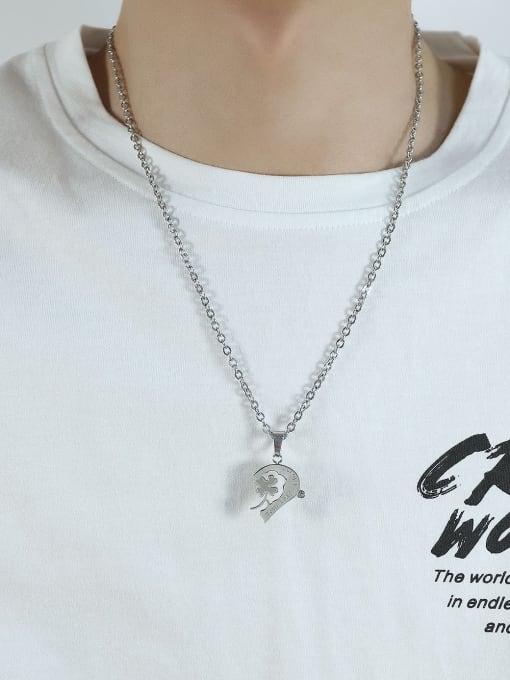 Open Sky Titanium Steel Heart Hip Hop Necklace 1