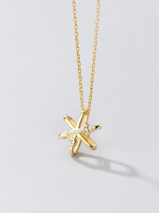 Rosh 925 Sterling Silver Cubic Zirconia Star Minimalist Necklace