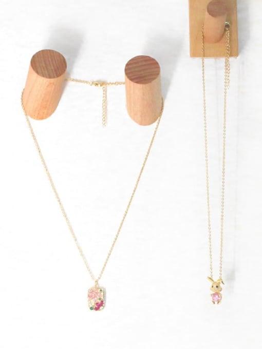 CC Brass Cubic Zirconia Flower Hip Hop Necklace 2