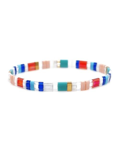 Roxi Stainless steel Multi Color TIla Bead  Geometric Bohemia Adjustable Bracelet 0