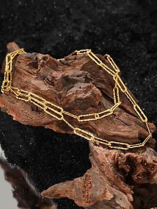 DAKA 925 Sterling Silver Geometric Minimalist Necklace 1