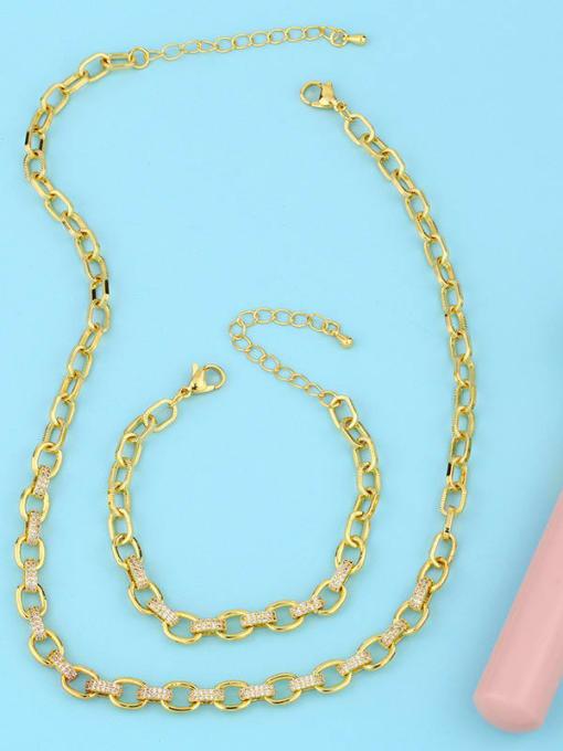 CC Brass Hollow Geometric Minimalist Necklace 4
