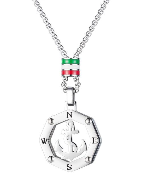 Open Sky Titanium Steel Anchor Hip Hop Necklace 0