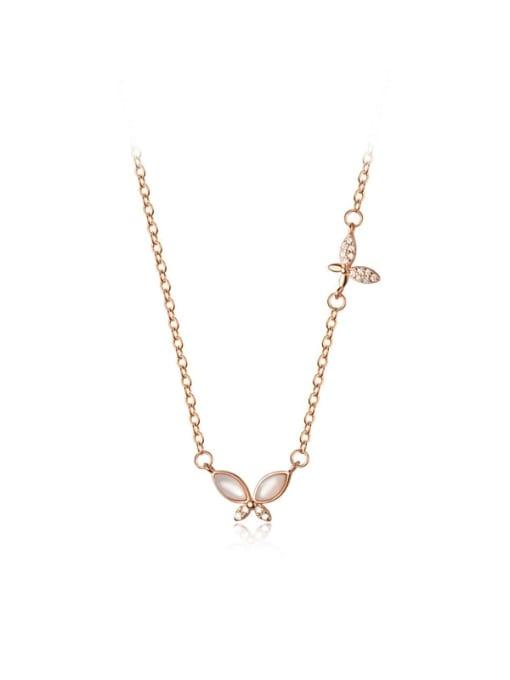 Rosh 925 Sterling Silver Shell Leaf Minimalist Necklace 4