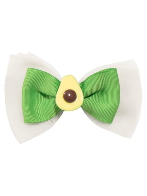 6 avocado Alloy  Fabric Cute Bowknot Multi Color Hair Barrette