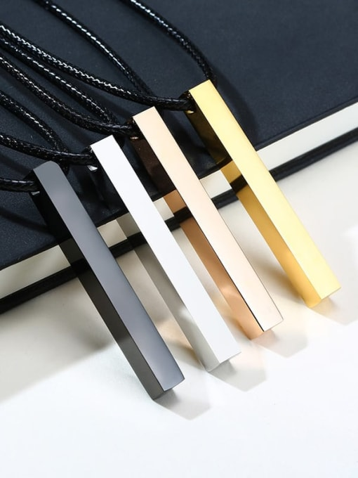 CONG Stainless steel Smooth Geometric Minimalist  pendant Necklace 1