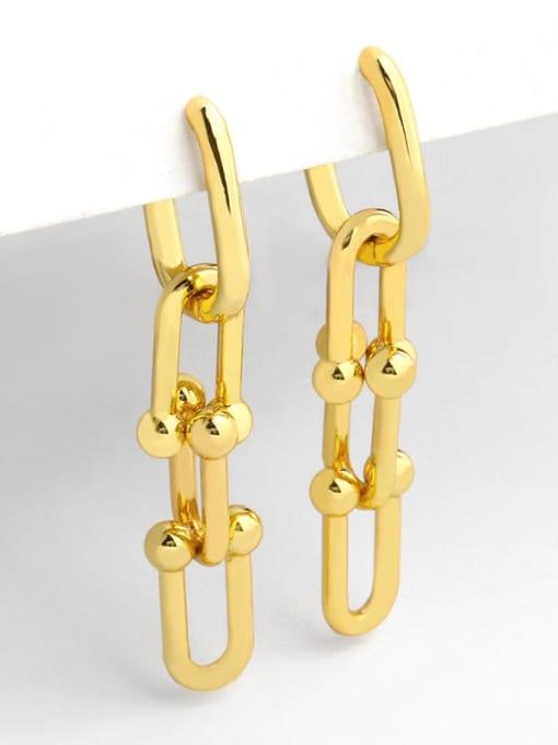CC Brass Hollow Geometric Vintage Drop Earring 1