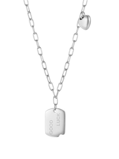 steel Titanium Steel Geometric Vintage Necklace