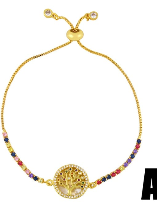 A Brass Shell Round Minimalist Beaded Bracelet