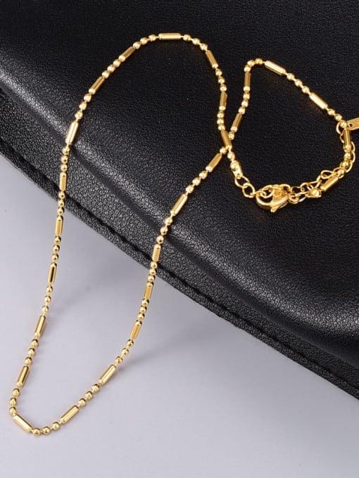 A TEEM Titanium Steel Smooth Round Vintage Necklace 1
