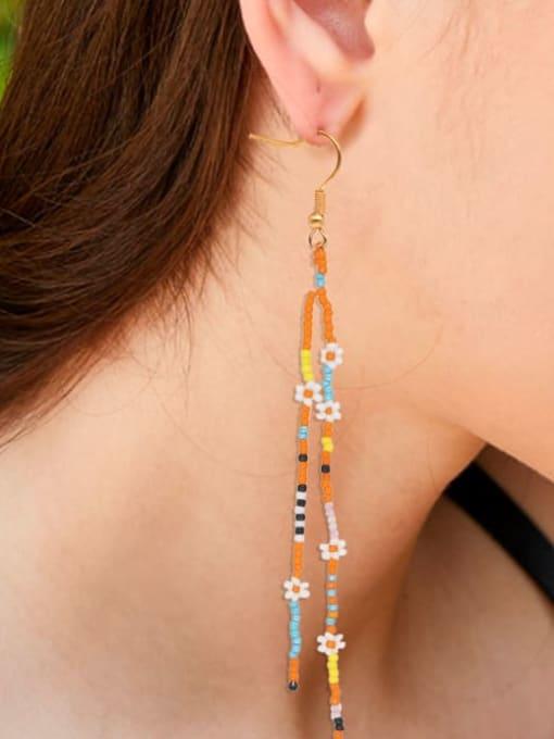 Roxi Stainless steel MGB Bead  Multi Color Geometric Bohemia Hook Earring 1