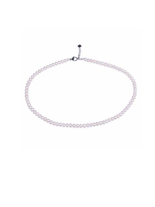 RAIN Brass Freshwater Pearl Round Minimalist Necklace 0