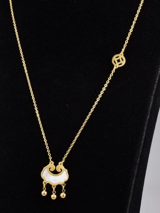 A TEEM Titanium Steel Shell Locket Vintage Necklace 3