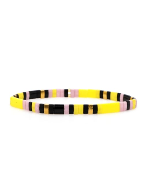 TL B190269C Stainless steel TILA Bead Multi Color Geometric Bohemia Handmade Weave Bracelet
