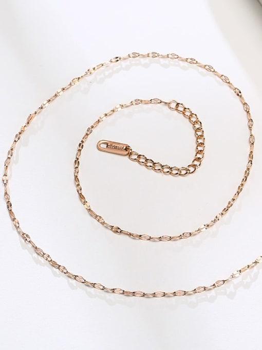 CONG Titanium Steel Irregular Minimalist Necklace 0