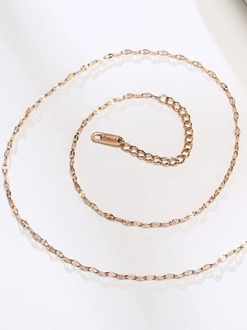 CONG Titanium Steel Irregular Minimalist Necklace