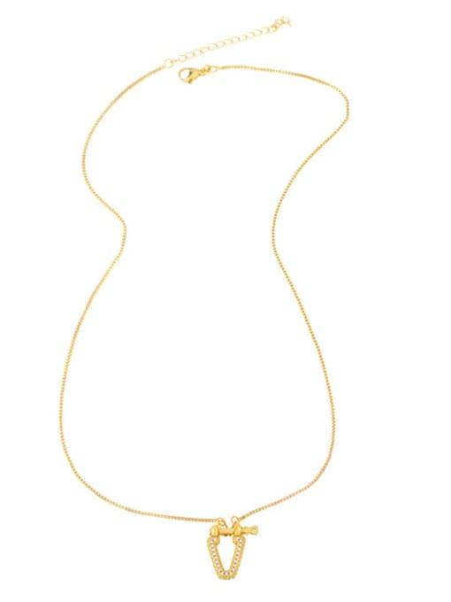 CC Brass Cubic Zirconia Geometric Vintage Necklace 4