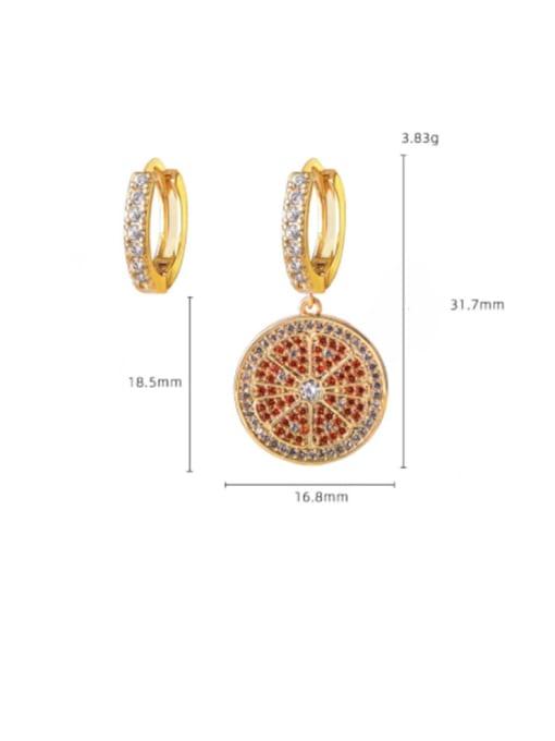 DUDU Brass Cubic Zirconia Geometric Vintage Huggie Earring 1