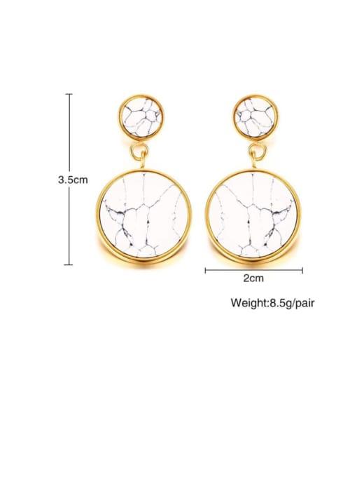 CONG Titanium Steel Enamel Geometric Vintage Drop Earring 2