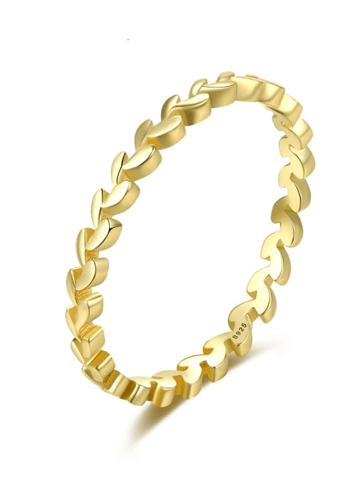 CCUI Brass Geometric Minimalist Band Ring 0