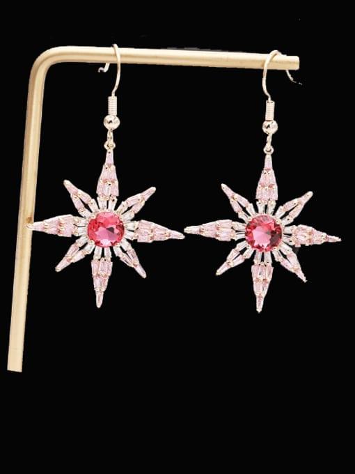 Luxu Brass Cubic Zirconia Star Minimalist Hook Earring