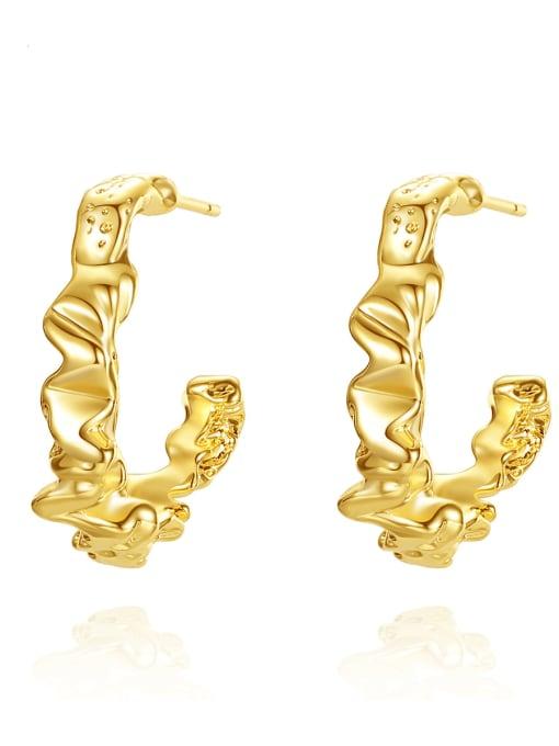 BLING SU Copper Geometric Minimalist Stud Earring
