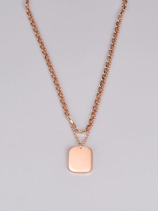 A TEEM Titanium Steel Geometric Minimalist Multi Strand Necklace 2