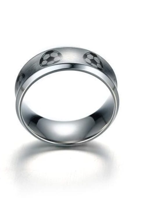 CONG Stainless steel Enamel Ball Minimalist Band Ring 3