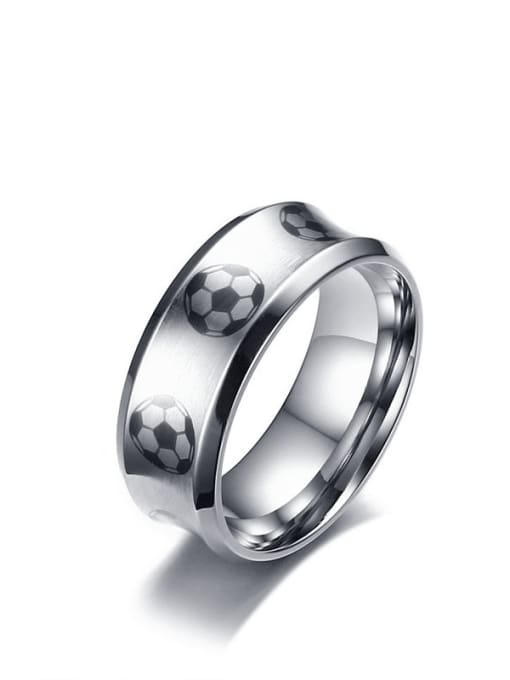 CONG Stainless steel Enamel Ball Minimalist Band Ring 0
