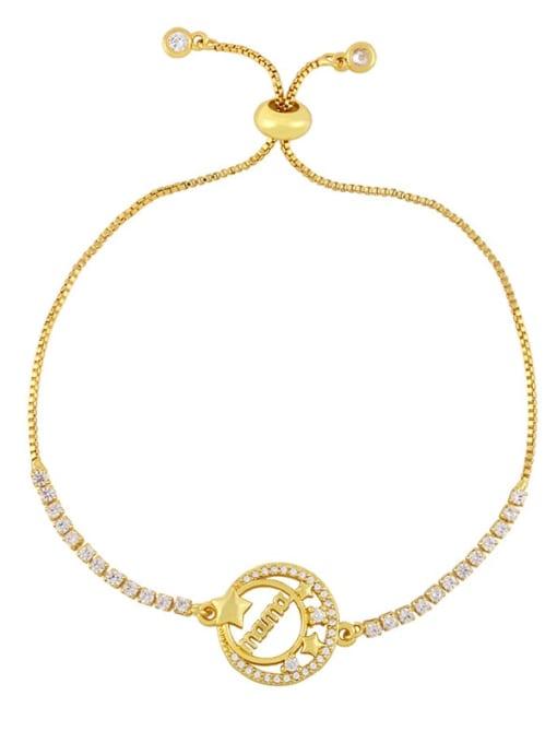 CC Brass Cubic Zirconia Heart Vintage Link Bracelet 3
