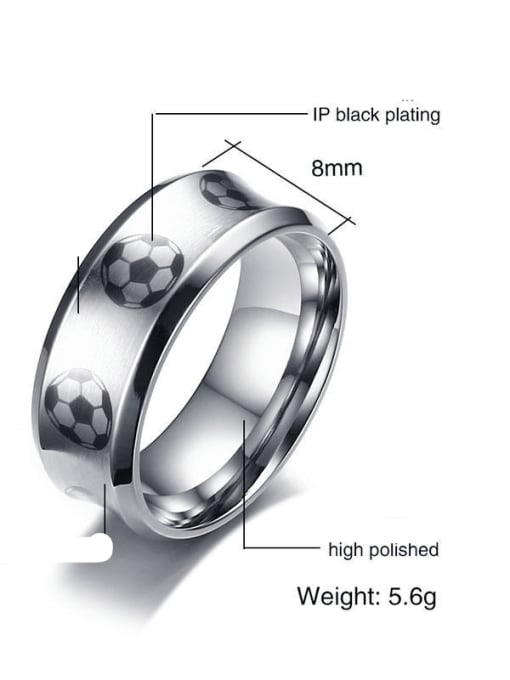 CONG Stainless steel Enamel Ball Minimalist Band Ring 1
